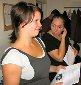 Backing singers Sara (left) and Mirka.