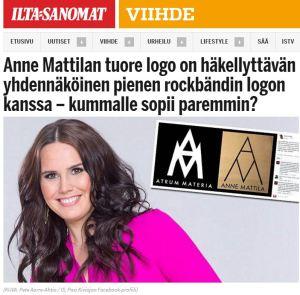 Logokohu Ilta-Sanomissa 4/2016.